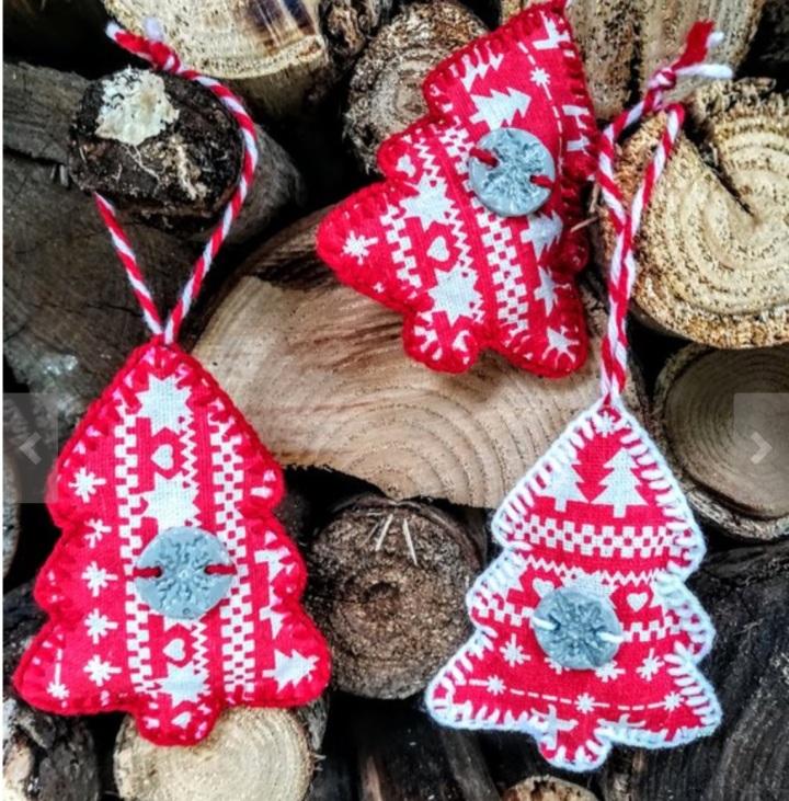 Décoration Noel arbre tissu