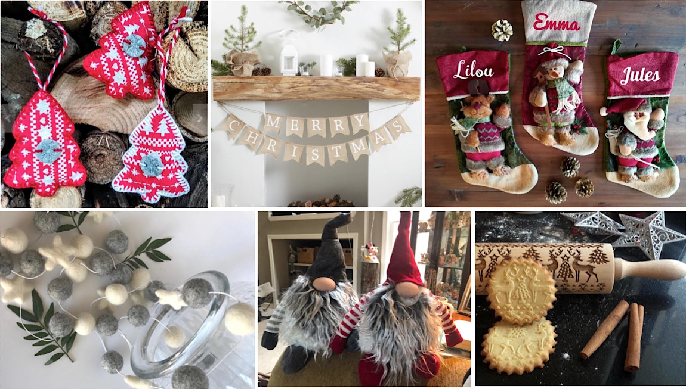 Idées et décorations de Noël sympas sur Etsy