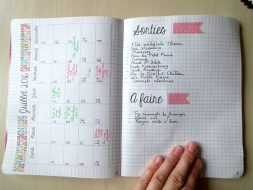 Bullet Journal Sorties, A faire - 24h01