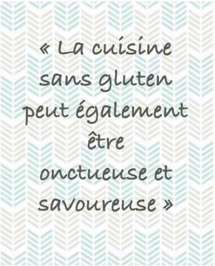 Cuisine sans gluten savoureuse
