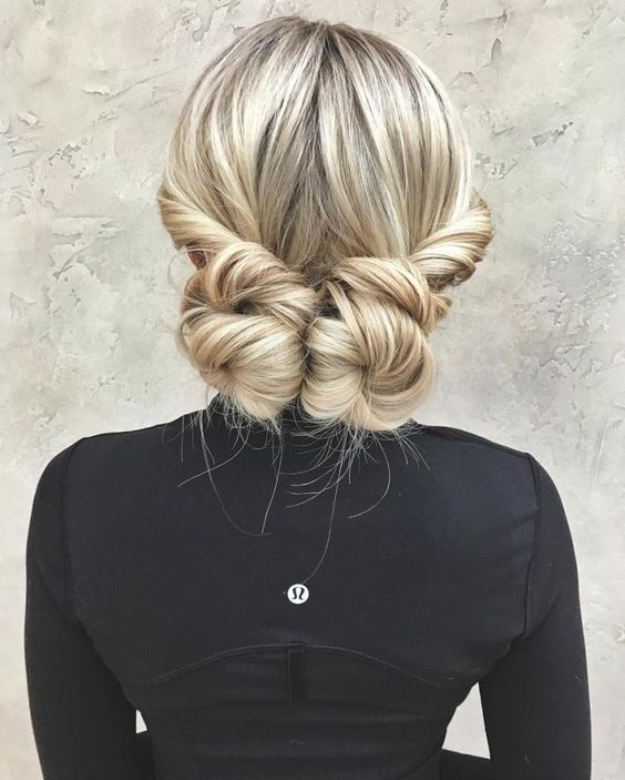 double chignon fêtes coiffure