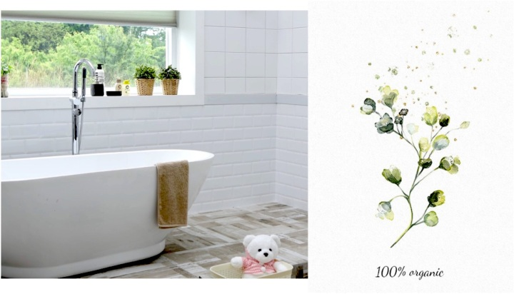 Salle de bain nettoyage produits naturels
