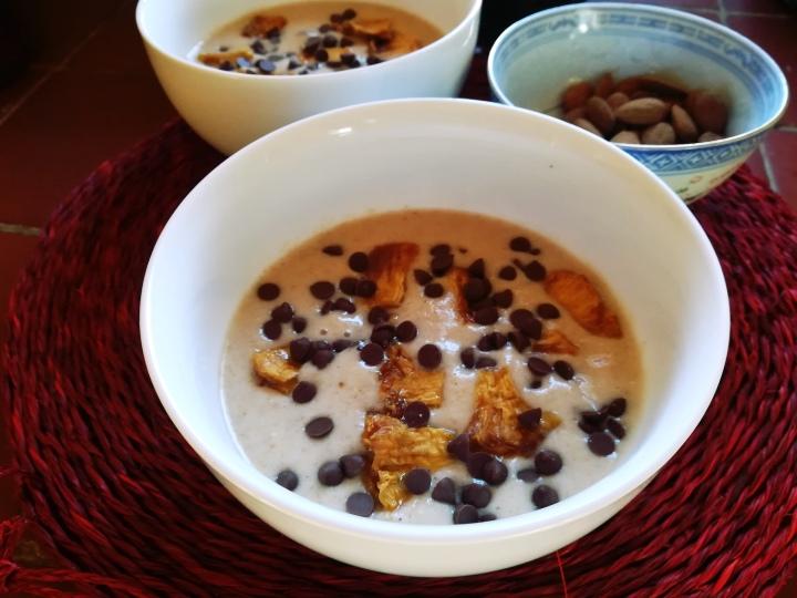 Crème dessert: poire, ananas etchocolat