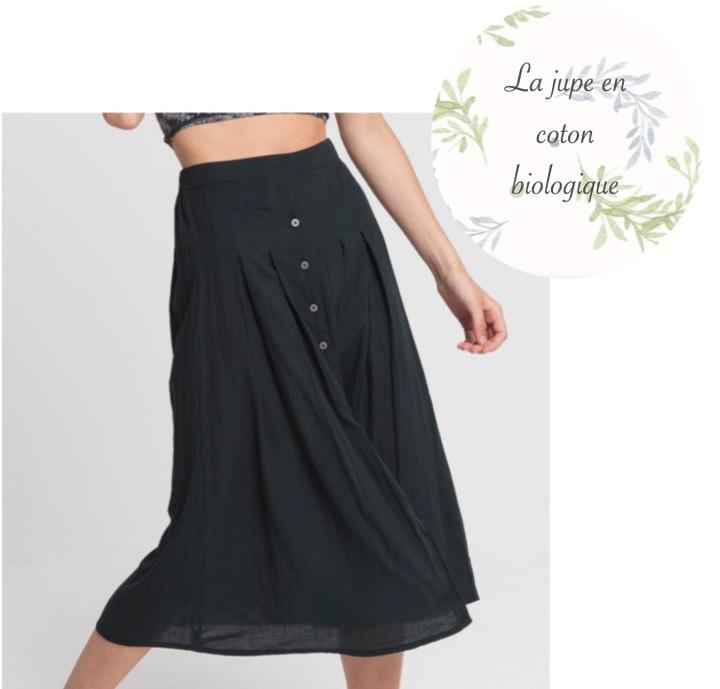 La jupe en coton biologique