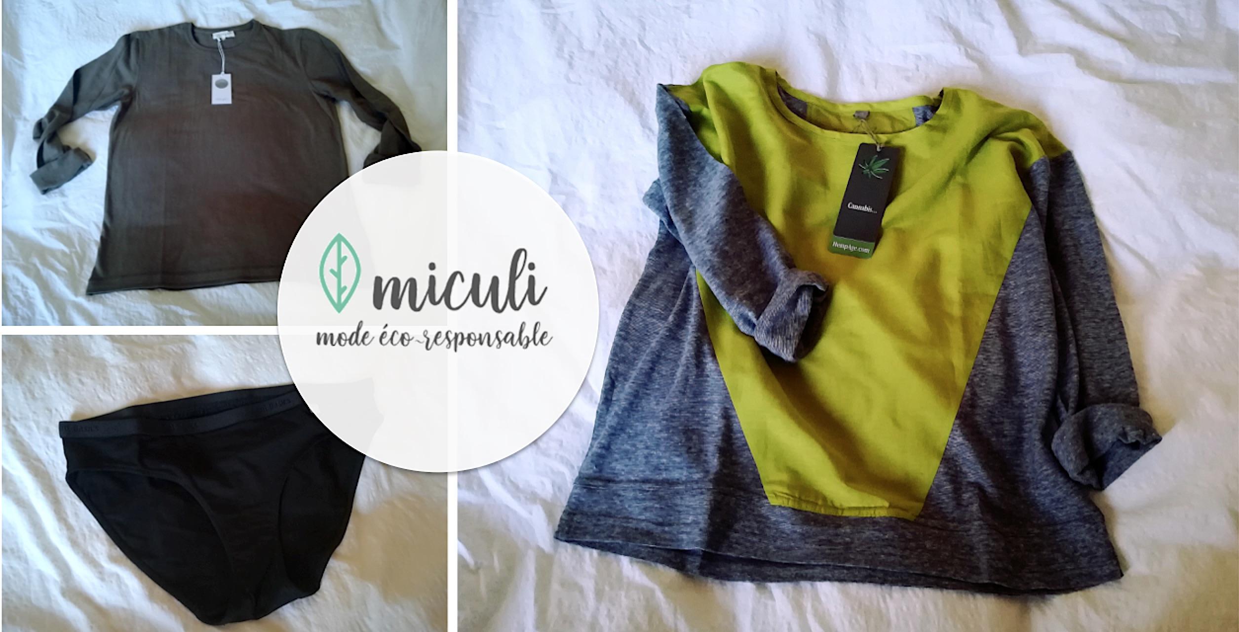 Miculi bio, de jolis vêtements éco-responsables et confortables