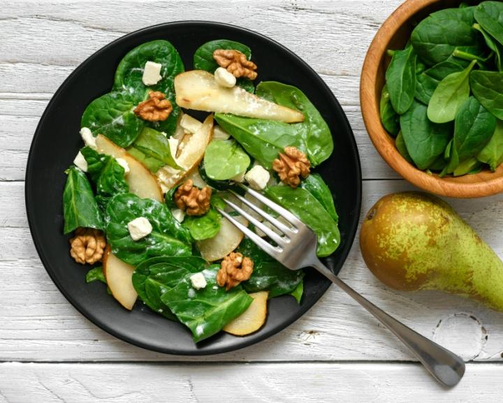 salade poires noix et fromage
