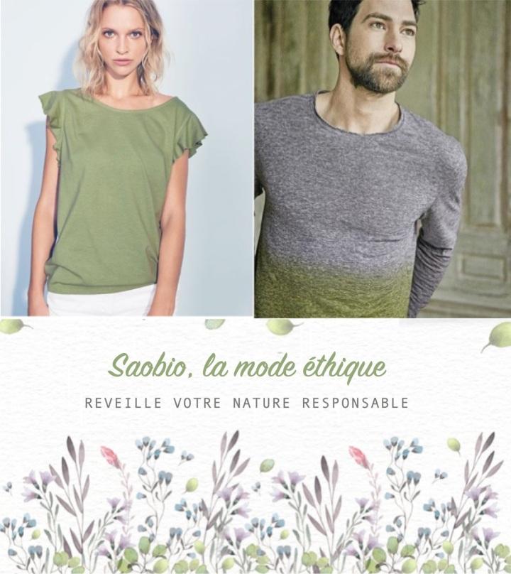 Saobio, des vêtements pour un avenirdurable