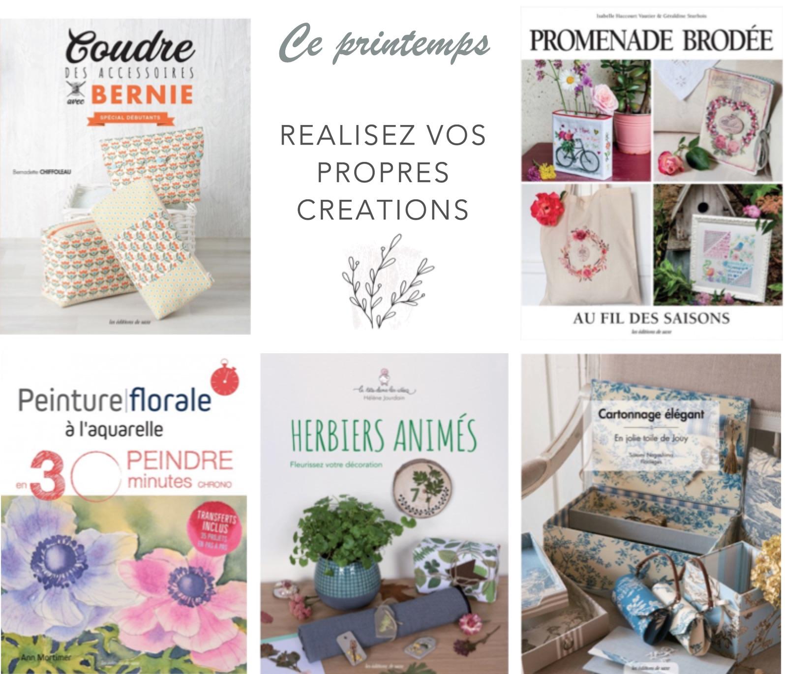 8 livres de loisirs créatifs à découvrir pour le printemps