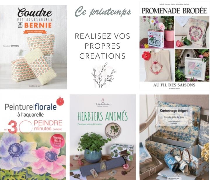 8 livres de loisirs créatifs à découvrir pour leprintemps