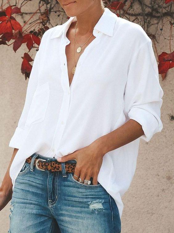 la blouse blanche printemps