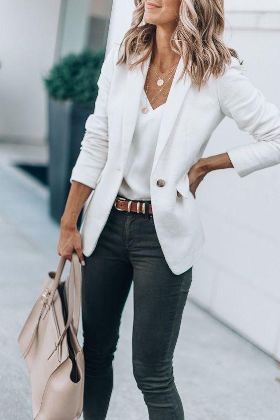 veste blanche travail