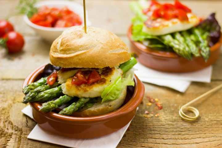 Burger aux asperges