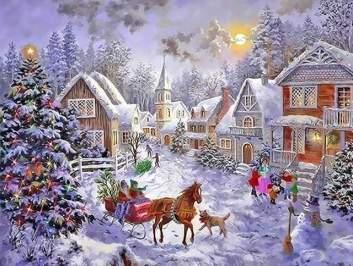 Le village décoré de Noël